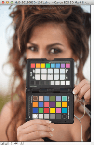 ColorChecker Passport in daylight