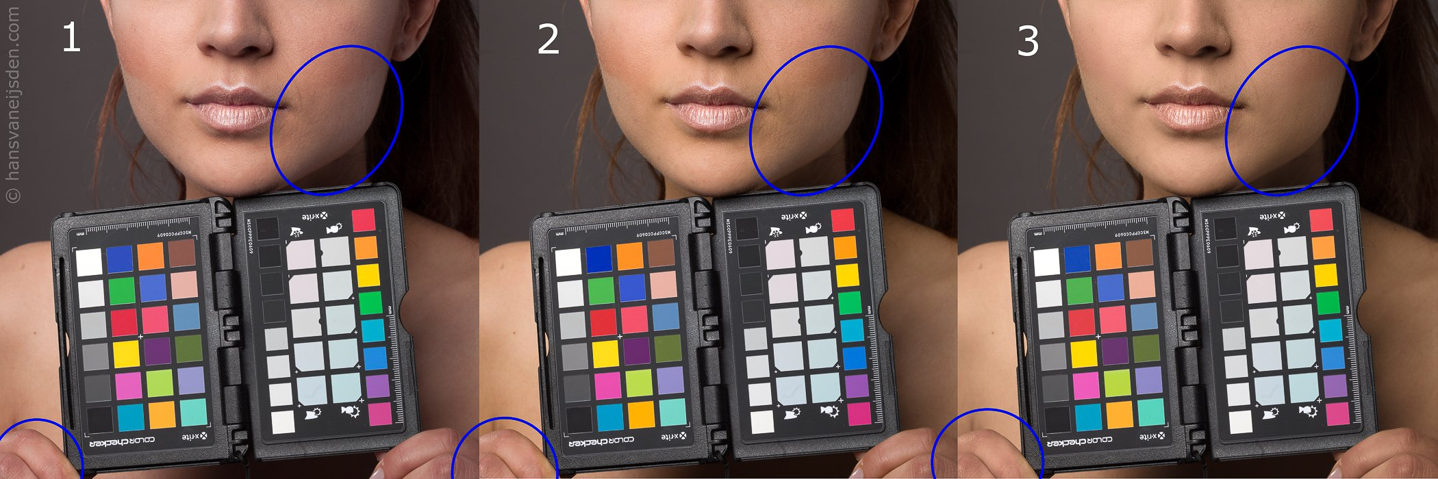 ColorChecker profile skin comparison 2: studio setting