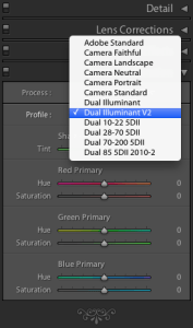 Lightroom Color Profile Selection